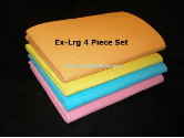Set of 4 XL German Super Absorbent Shammy Cloths (SKU: 100-17)