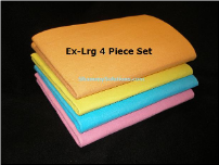 Set of 4 XL German Super Absorbent Shammy Cloths