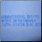 Authentic German Import Stamp in water based wash out ink on each Chamois (Shown on Sky Blue)